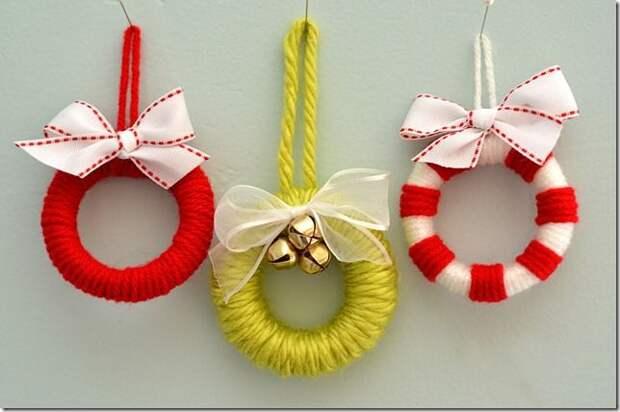 Shower Curtain Ring Mini Wreath