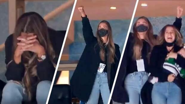 Эмоциональная реакция жены хоккеиста Перри на его голы. Канадец не забивал в финале НХЛ до ее появления на трибуне
