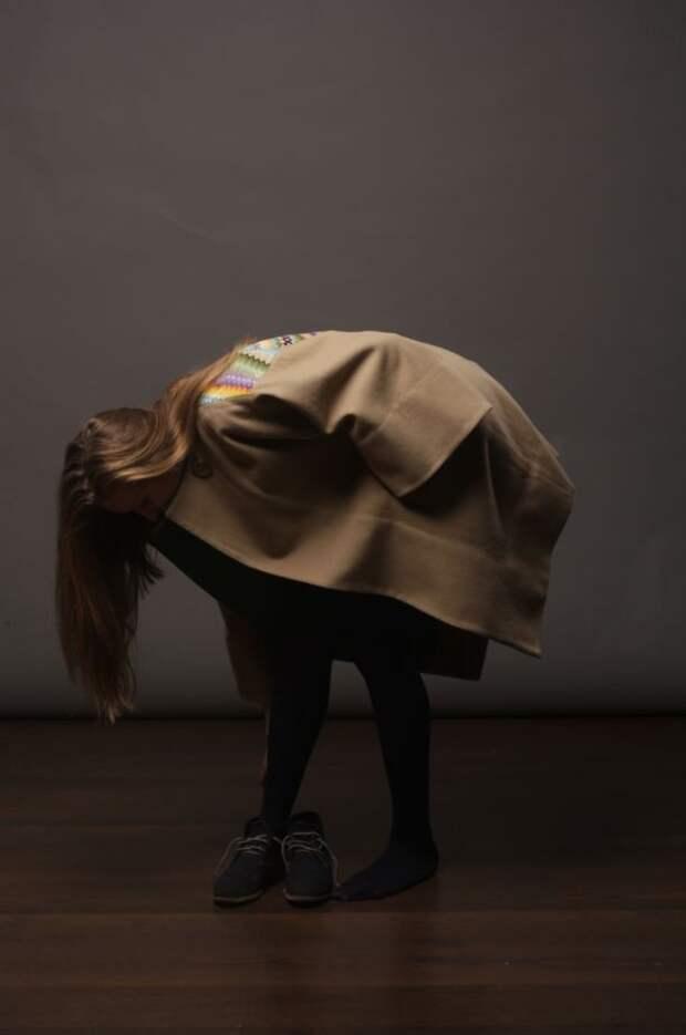 Пальто с вышивкой крестом
