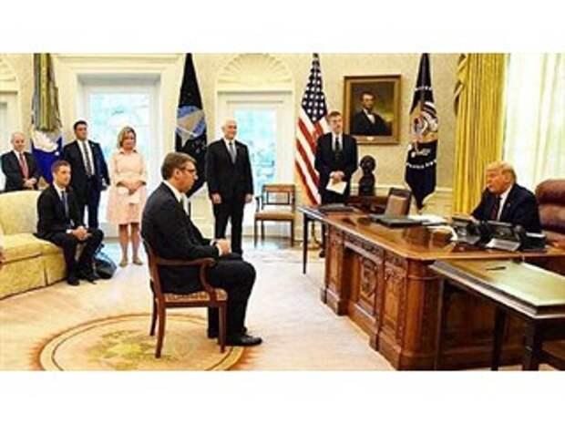 Вучич не мог сесть перед Трампом как равный, «это был сигнал Москве»
