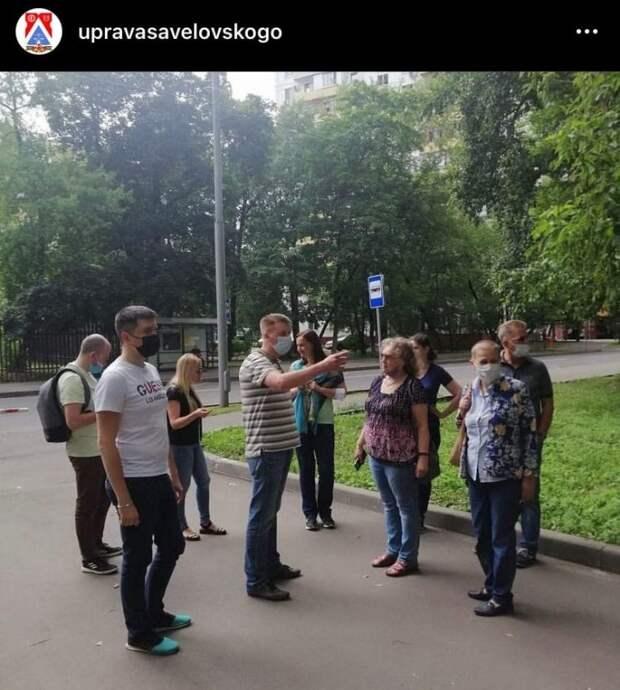 Глава управы провел субботний обход в Савеловском