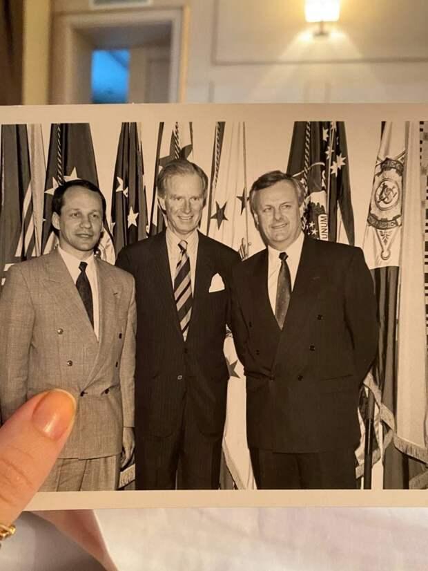 Собчак опубликовала фото своего отца с Джо Байденом