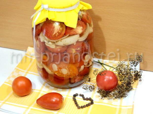Маринованные помидоры дольками без стерилизации