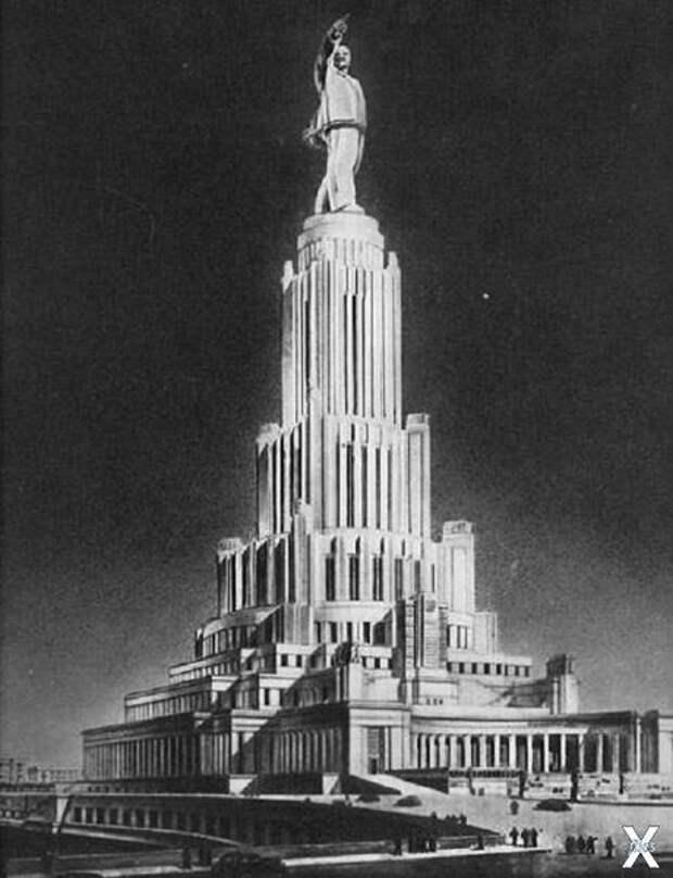 Главный фасад Дворца Советов