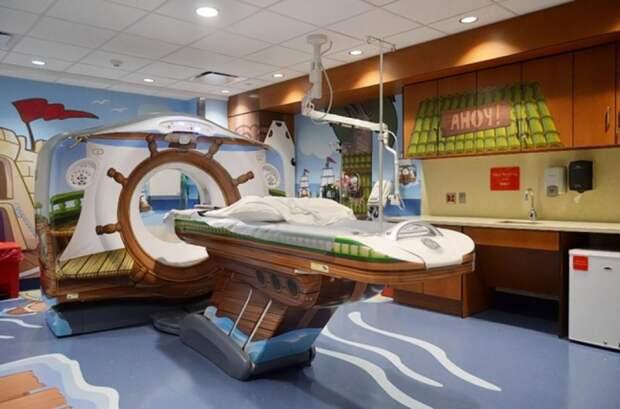 5. Томограф в детской больнице Нью-Йорка. больницы, дети