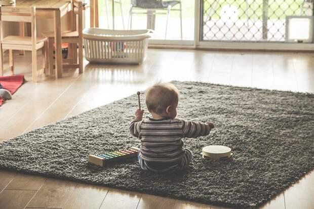 Музыка, Дети, Играть, Ксилофон, Бубен, Счастливы