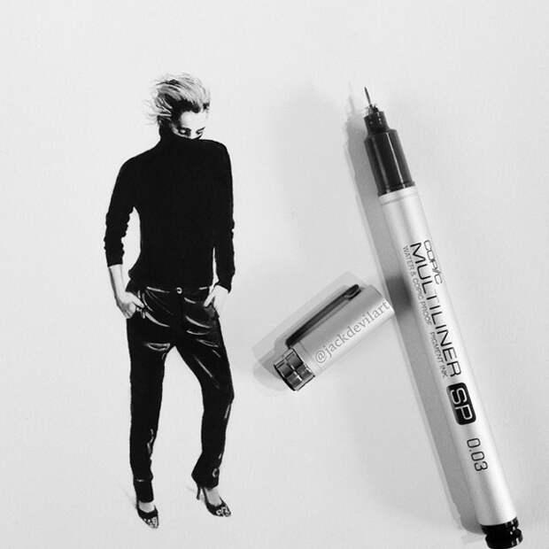 Необычайно реалистичные рисунки шариковой ручкой