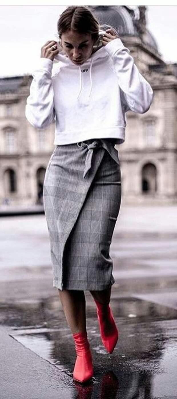 Юбки - карандаш на запах: трафик