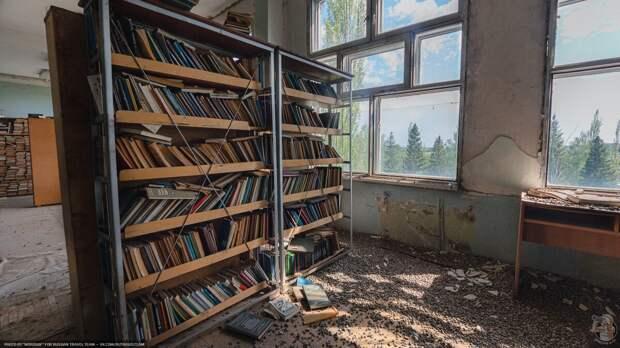 Заброшенная заводская библиотека
