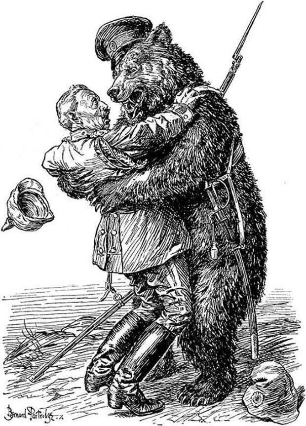 Англия медведь, россия