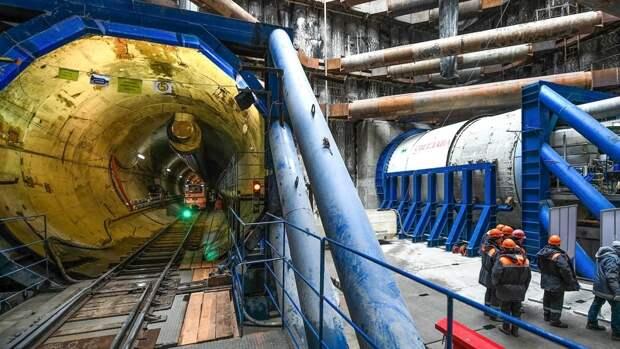 Строительство двухпутного тоннеля началось на Большой кольцевой линии метро Москвы