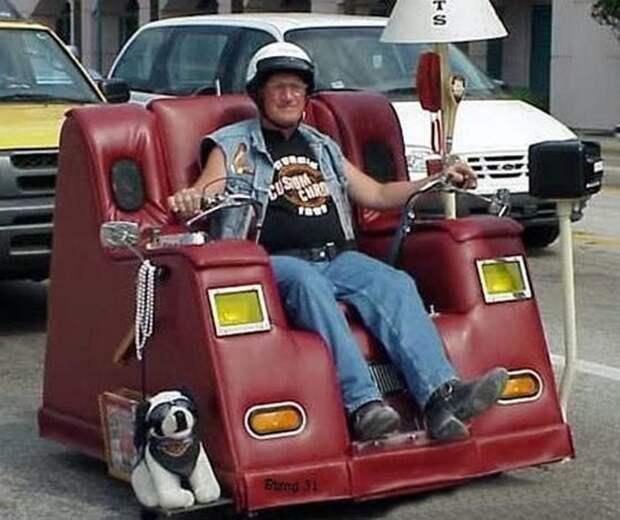 Моторизованный диван.