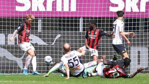 «Милан» одержал победу над «Дженоа» в 31-м туре Серии А