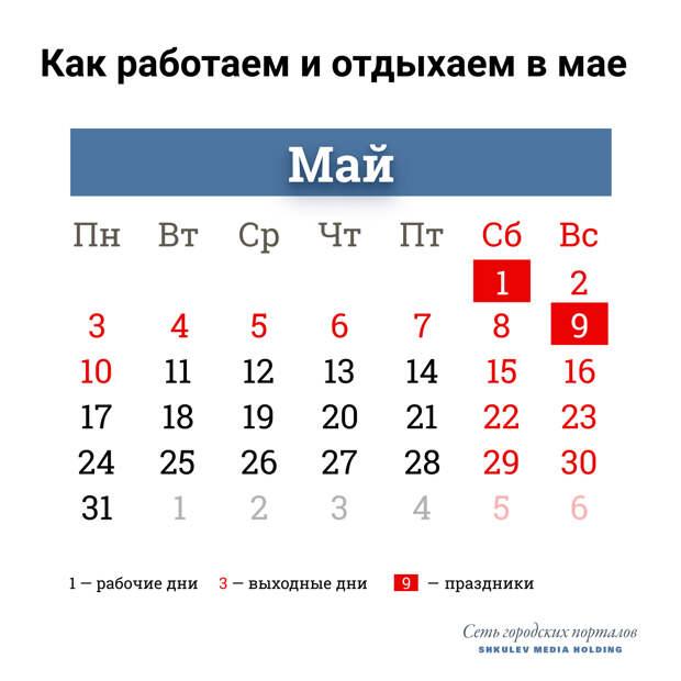 С 1 по 10 мая в России будут выходные. Публикуем указ Путина