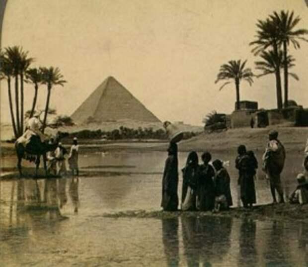 Так выглядела пирамида Хеопса в XIX веке