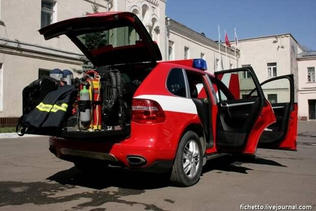 Пожарный автомобиль СПТ - Porsche Cayenne