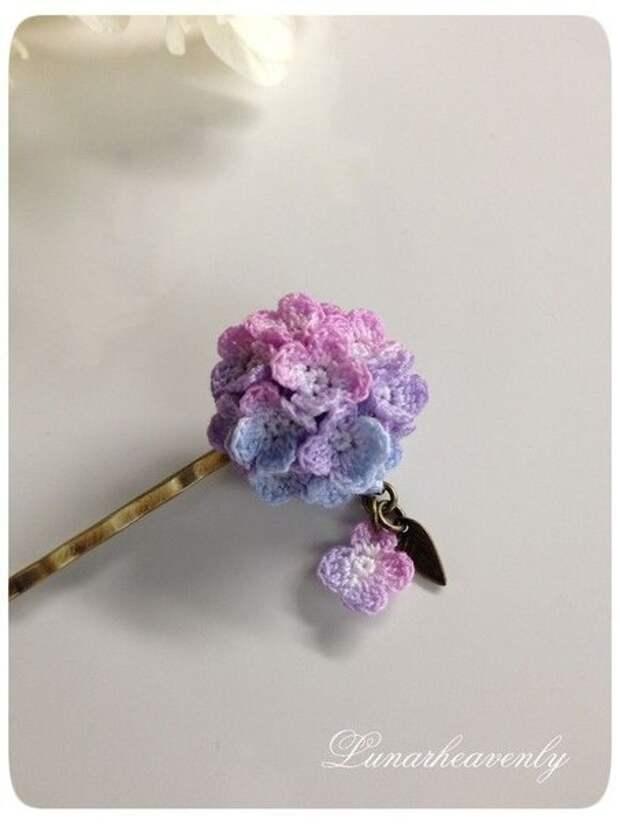 Вязаные цветы-миниатюры (подборка)