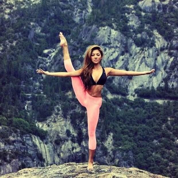 Вот так они продолжают гибкие девушки, гимнастика