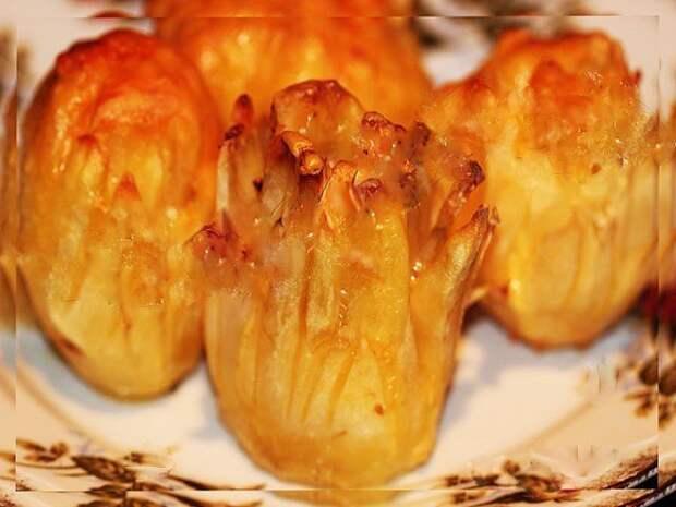 Дофине - картофельный цветок с сыром