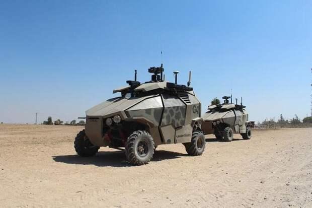 Беспилотный автомобиль Guardium UGV авто, броневик, военная техника