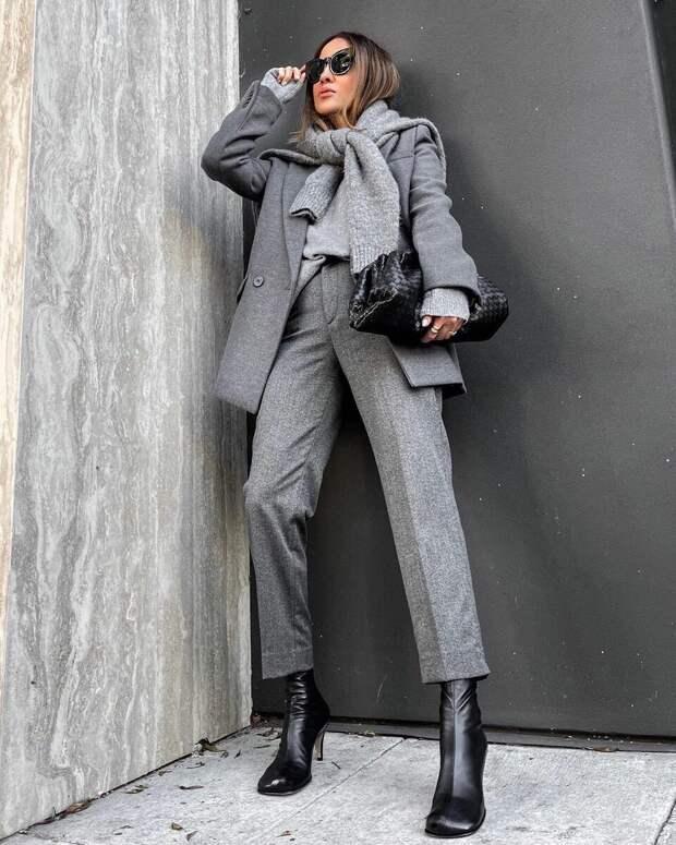 12 примеров с чем носить серый пиджак и жакет и выглядеть на миллион