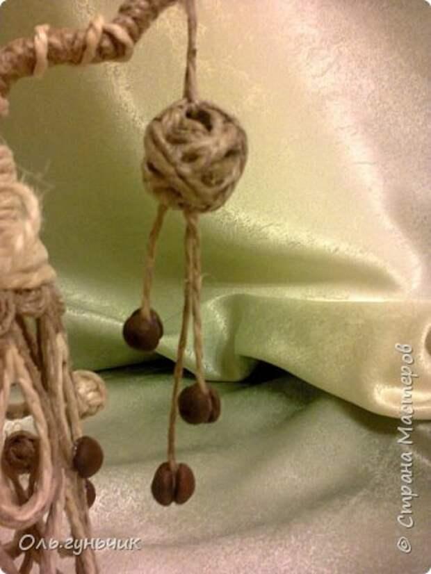 Мастер-класс Поделка изделие Новый год Моделирование конструирование Филигранная елочка МК Клей Кофе Шпагат фото 13