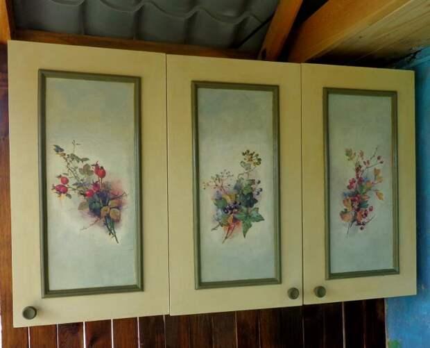Декорируем старый навесной шкаф