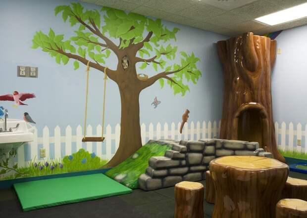 13. Игровая комната в Kentucky Children's Hospital. больницы, дети