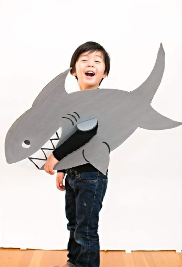 Костюм акулы из картона