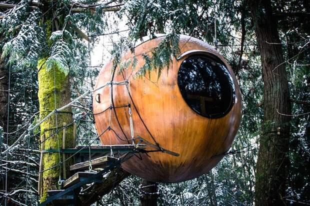 Уникальный отель Free Spirit Spheres на острове Ванкувер (Канада).