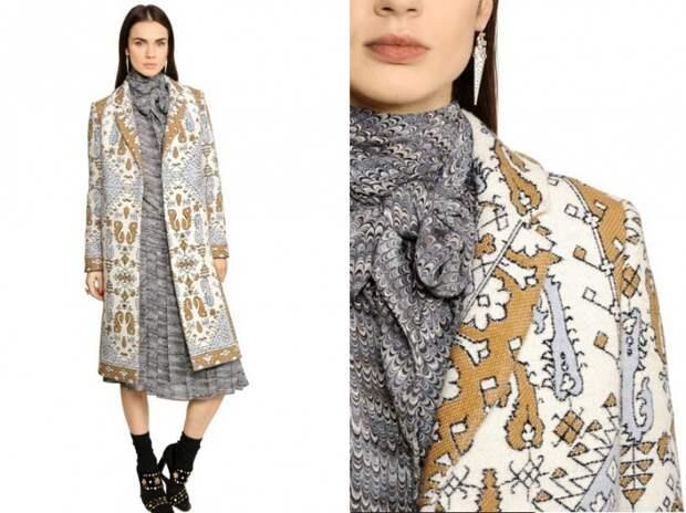 Как носить пальто из гобелена (трафик)