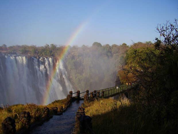 rainbow16 Радуга над самым большим водопадом в мире