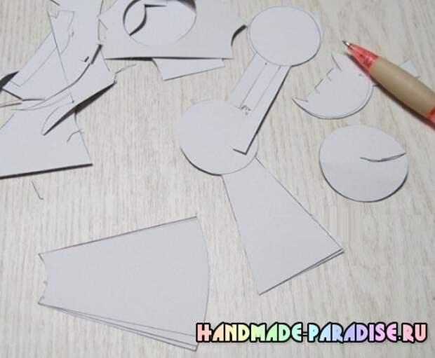 Куколка из фетра - детский кулон своими руками