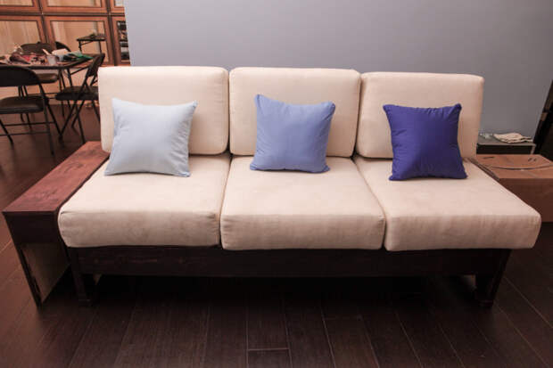Фотоотчет о создании самодельного дивана (22 фото)