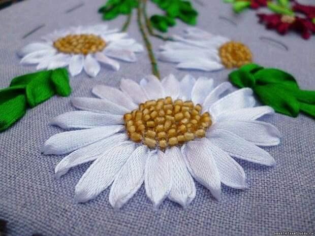 Красота вышивки лентами!