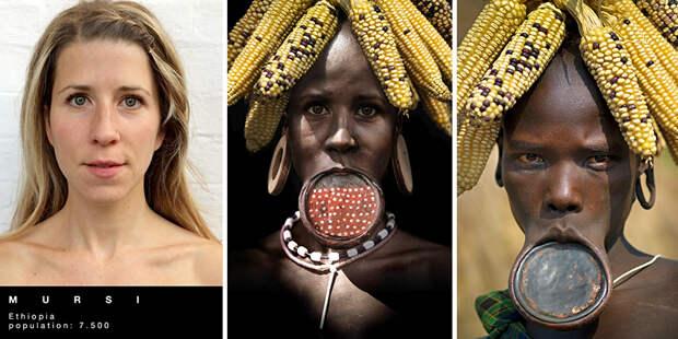 Замечательные превращения женщины в представительниц разных племен