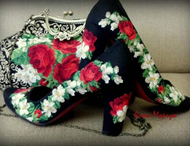 Вышитая обувь Анны Марчук (трафик)