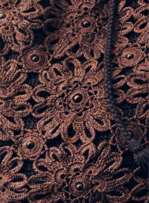 Круглый цветочный мотив для вязания сумки (2) (355x483, 382Kb)