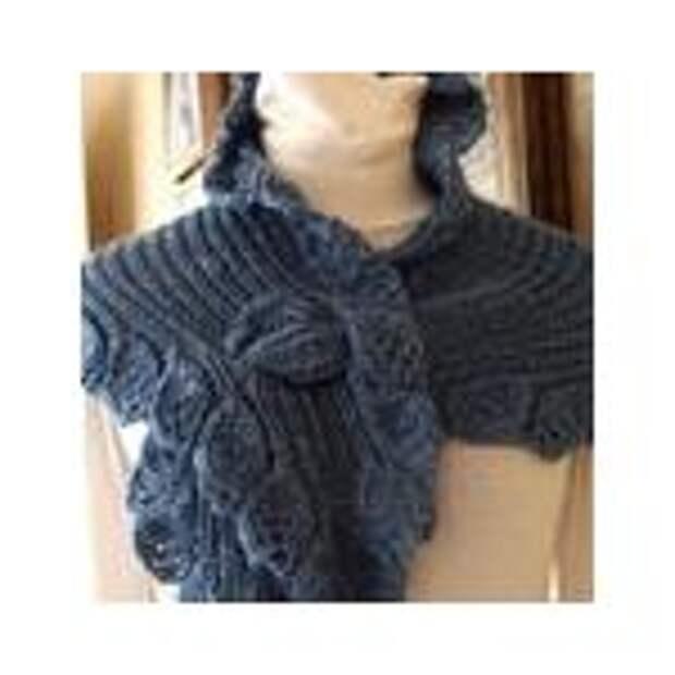 Вязаный шарф-боа