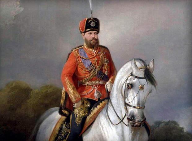 Художник Н. Сверчков, портрет императора Александра III Александровича