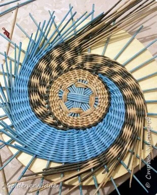 Мастер-класс Плетение Панно 40 см Спиральное плетение Бумага газетная Трубочки бумажные фото 17