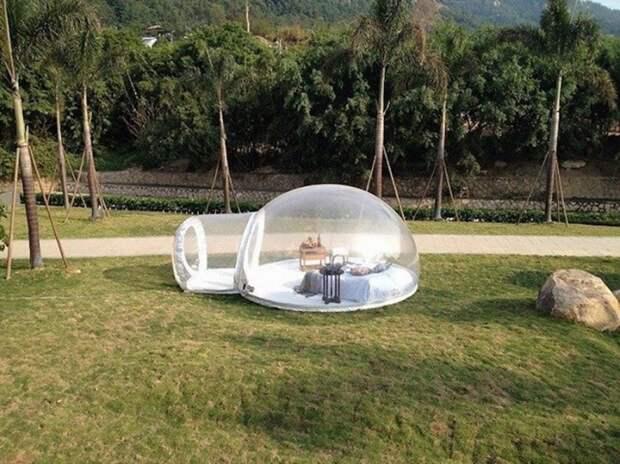 Гламурный кемпинг: прозрачная палатка для максимального сближения с природой