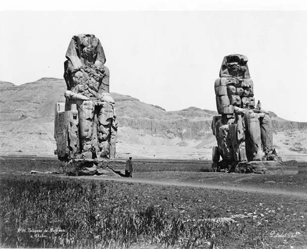 Фивы. Колоссы Мемнона. 1860-1870-е.
