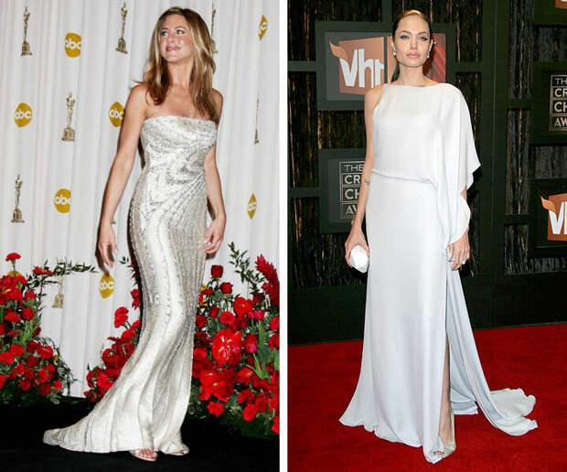 7 образов Анджелины Джоли и Дженнифер Энистон: fashion battle