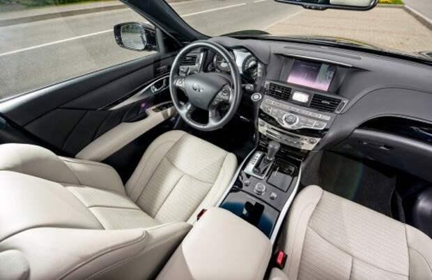 Салон прежний. Некоторые решения напоминают старшие модели Nissan. Появились камера кругового обзора и система обнаружения движущихся объектов.