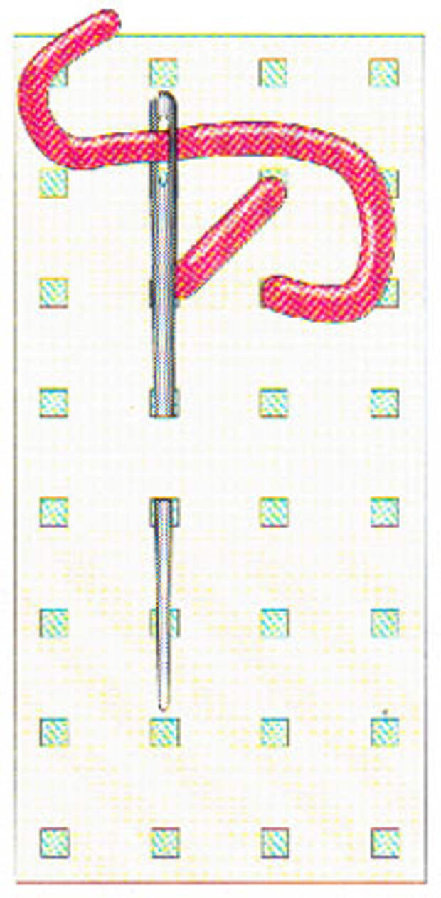 Вышивание крестиком по вертикали. Движение вперед (фото 2)