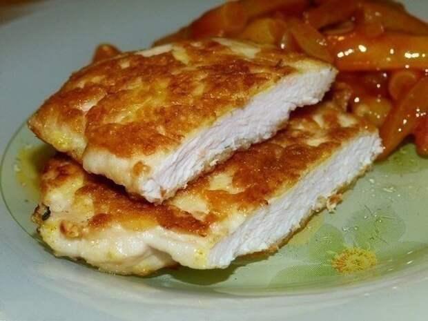 Куриные отбивные с хрустящей сырной корочкой