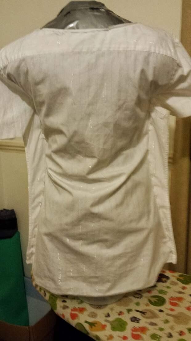Стильная переделка рубашки (Diy)