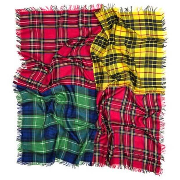 Junior Gaultier платок из 4 видов клетки
