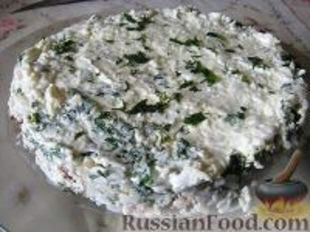 Фото приготовления рецепта: Салат слоеный из печени - шаг №13